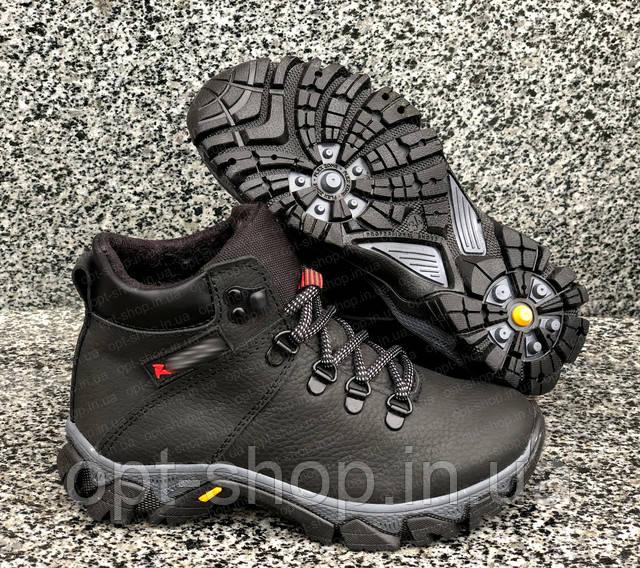 Детские зимние ботинки на мальчика, ботинки зимние кожаные для мальчика от производителя Ecco