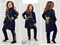 Детский теплый спортивный костюм с ангоры на девочку с пайетками. Лол - 6, 7, 8, 9, 10, 11, 12 лет.