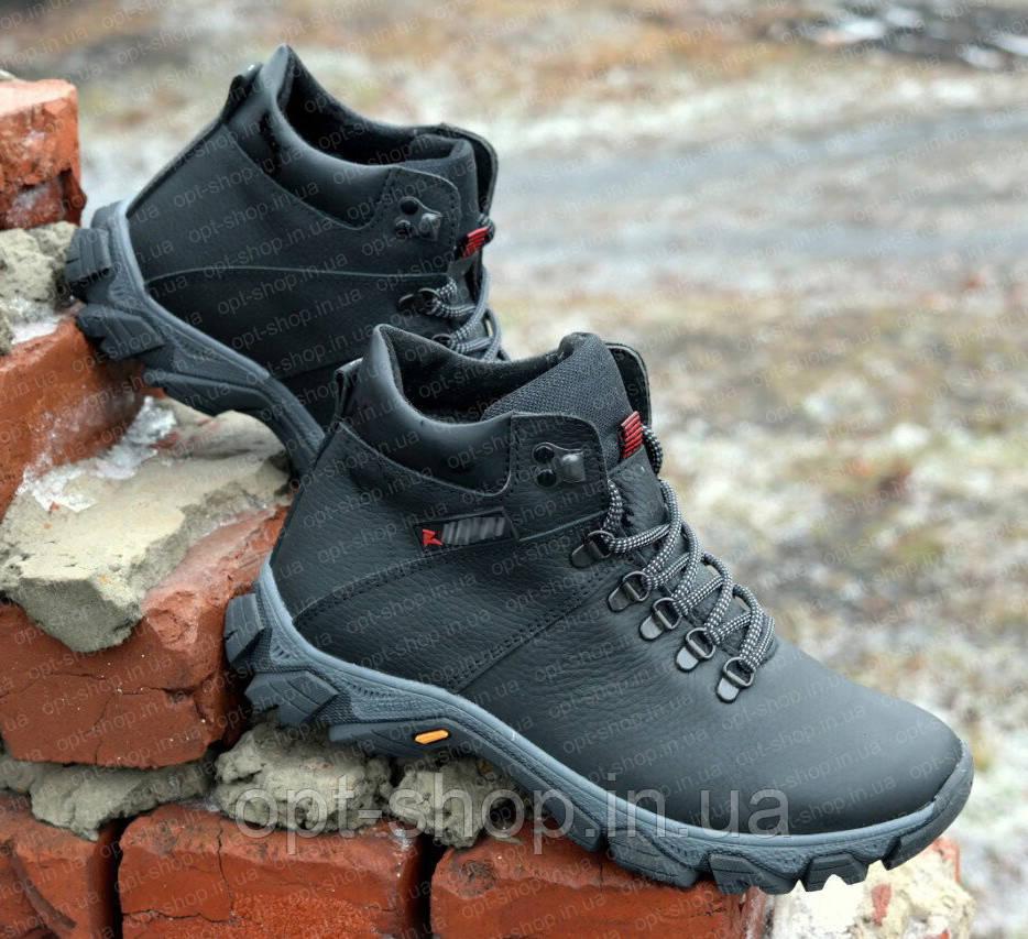 Зимние спортивные ботинки из натуральной кожи на мальчика