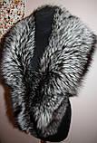 Накидка-воротник из финской перьевой чернобурки, фото 3