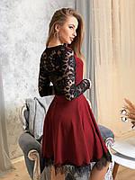 Нарядное платье с кружевной отделкой, фото 1