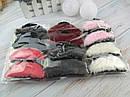 Заколки крабы для волос пластик с мехом 9*4 см цветные 12 шт/уп, фото 2
