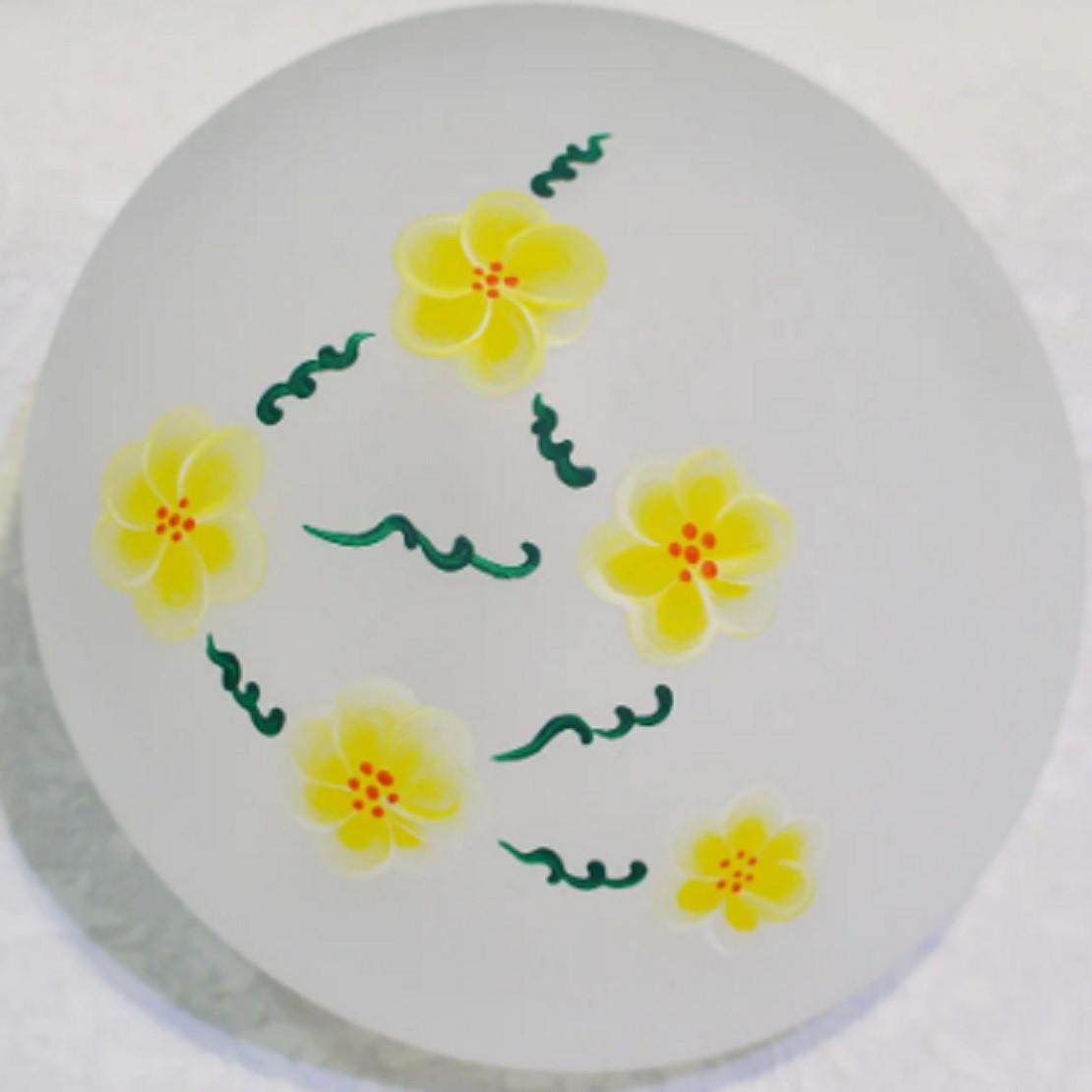"""Настенный и потолочный светильник """"Таблетка"""", 1 лампа, цветы"""