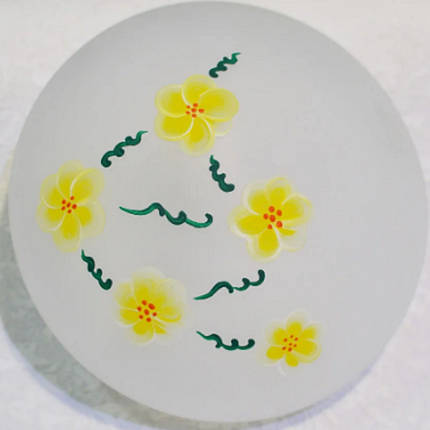 """Настенный и потолочный светильник """"Таблетка"""", 1 лампа, цветы, фото 2"""