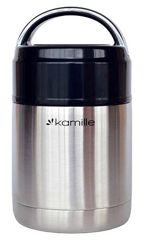 Термос для еды Kamille KM-2141 0.8 л Нержавеющая сталь, фото 2
