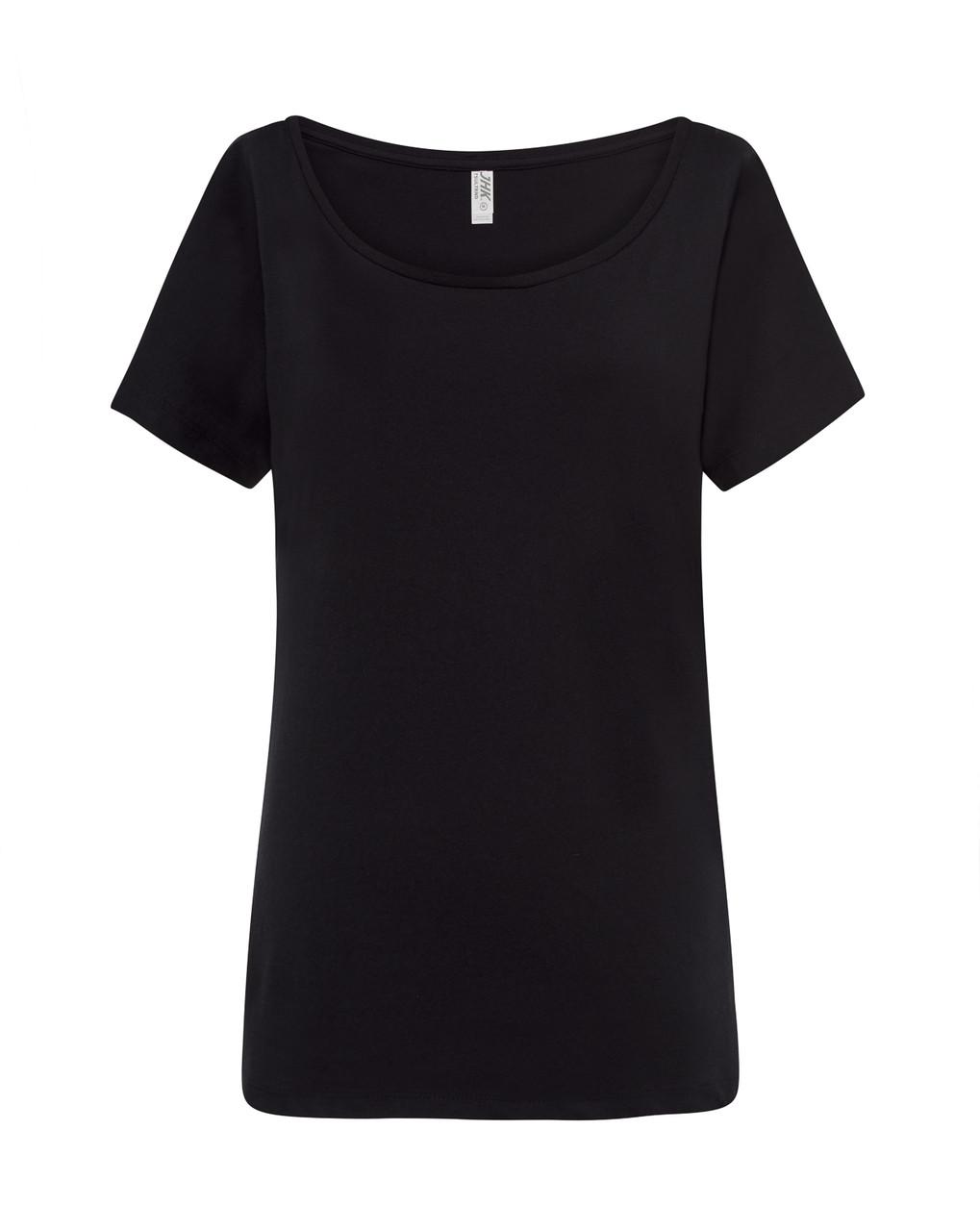 Женская футболка JHK TRINIDAD цвет черный (BK)