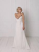 Классическое свадебное платье со сборкой на талии, фото 3
