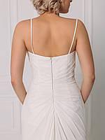 Классическое свадебное платье со сборкой на талии, фото 4