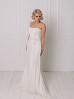 Классическое свадебное платье со сборкой на талии, фото 2