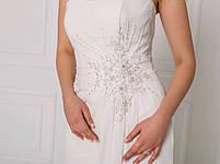 Классическое свадебное платье со сборкой на талии, фото 6