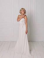 Классическое свадебное платье со сборкой на талии, фото 5