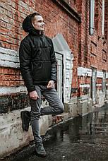 Мужская ветровка анорак  весна / осень Intruder Hypnotic (черный), фото 2