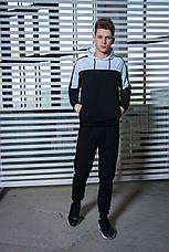 Мужской спортивный костюм  черный-белый Spirited Intruder + Подарок, фото 2
