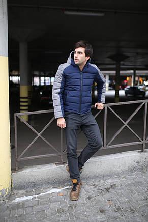 "Зимняя Куртка серо-синяя Intruder ""Impression"", фото 2"