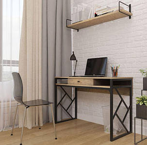 Стол письменный Ромбо стиль Лофт Металл-Дизайн 760х1100х500