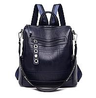 Рюкзак-сумка женский M&JJ Синий 30*31*13 (3100)