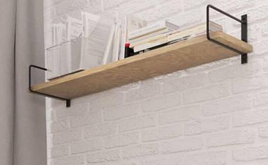 Полка подвесная Ромбо стиль Лофт Металл-Дизайн 190х1050х290