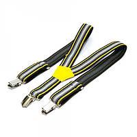Детские подтяжки Gofin полосатые Черные желто-белым Pbd-090, КОД: 189728