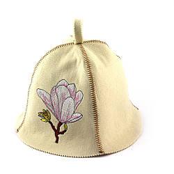 Банная шапка Luxyart Магнолия Белый LA-326, КОД: 1101466