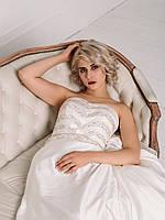Свадебное платье с пышной юбкой и бисером, фото 2