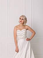 Свадебное платье с пышной юбкой и бисером, фото 4