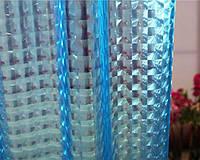 Штора для ванной силиконовая 3Д эффект голубая