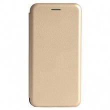 Чехол-книжка Premium Case под кожу Samsung M205 M20 (2019) золотой