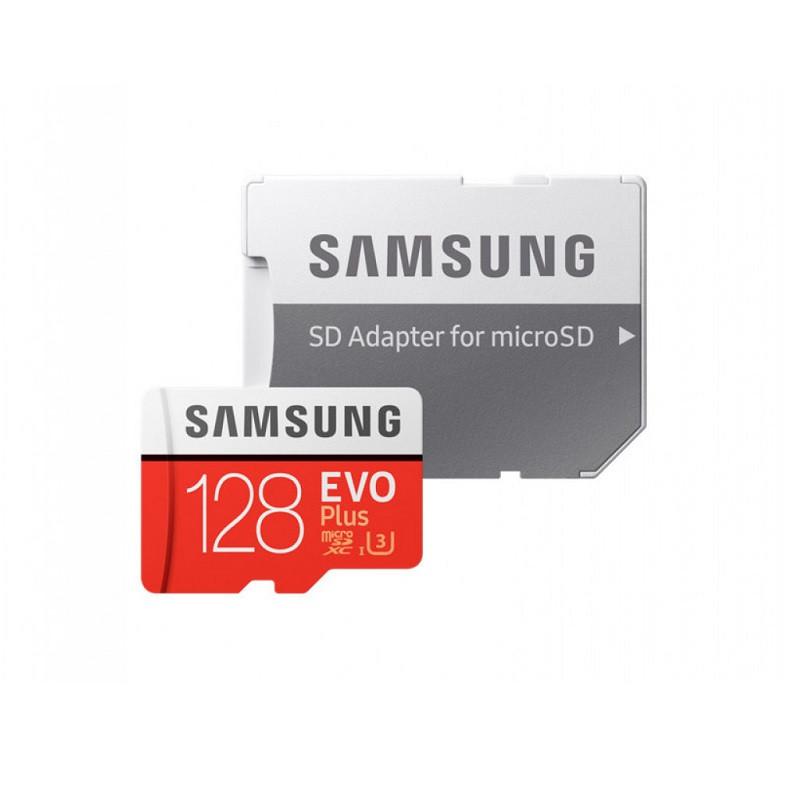 Карта памяти Samsung microSDXC 128GB Class 10 U3 Evo Plus + SD-адаптер