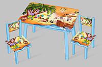 Столик Мини + 2 стульчика, детский столик два стульчика