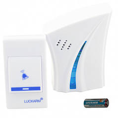 Беспроводной дверной звонок Luckarm Intelligent D8610 с батарейкой Белый/Голубой