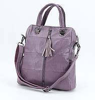 Рюкзак-сумка женский M&JJ Сиреневый 31*34*15 (3129)