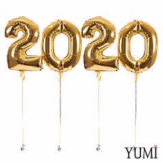 Цифры 2020 золотые
