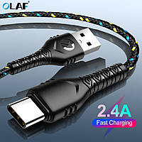 Кабель Olaf USB - Type-C Black Fast Charging, 1 метр, фото 1
