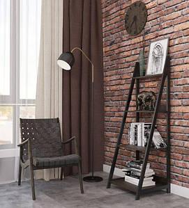 Стойка металлическая для книг и декора Дуо стиль Лофт Металл-Дизай 1470х520х480