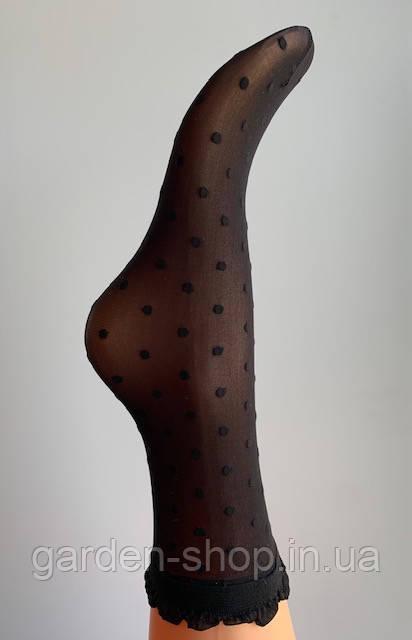 Жіночі шкарпетки Veneziana Myriam (чорні в горошок)