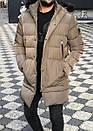 Мужская стильная куртка-парка, до -15 (4 цвета), фото 3