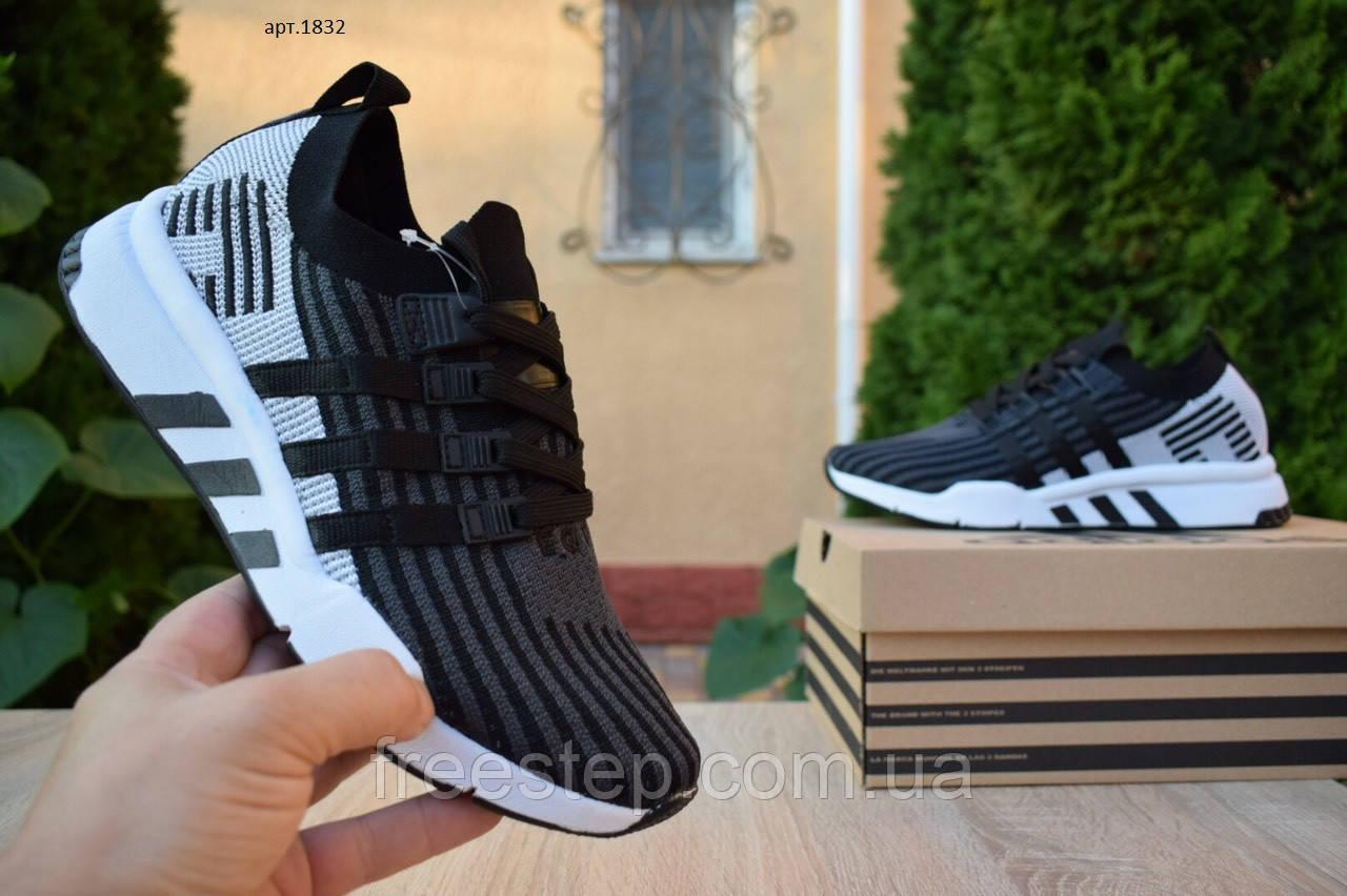 Чоловічі кросівки в стилі Adidas Equipment сірі з чорним