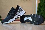 Чоловічі кросівки в стилі Adidas Equipment сірі з чорним, фото 2