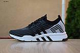 Чоловічі кросівки в стилі Adidas Equipment сірі з чорним, фото 3