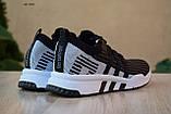 Чоловічі кросівки в стилі Adidas Equipment сірі з чорним, фото 5