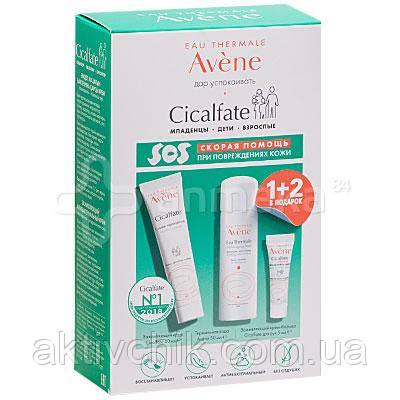 Набор Avene Cicalfate Авене Сикальфат: Восстанавливающий крем+Термальная вода+Защитный крем