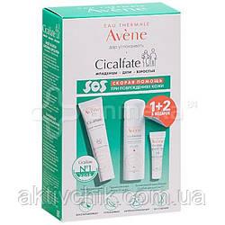 Набір Avene Cicalfate Сикальфат: Відновлюючий крем+Термальна вода+Захисний крем