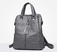 Рюкзак-сумка женский M&JJ Серый 31*34*15 (3127)