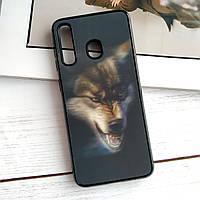 Чехол Samsung Galaxy A20 / А30 3D голограмма Волк