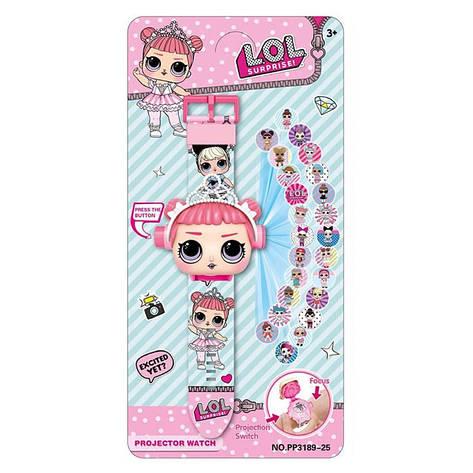 """Дитячий наручний годинник з 3d проектором """"Lol (Ляльки Лол)"""" в оригінальній упаковці, фото 2"""