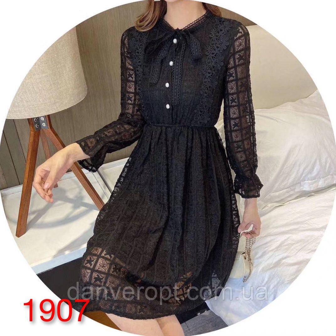 Платье женское модное стильное размер универсальный M-L купить оптом со склада 7км Одесса