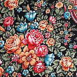 Цветочная нимфа 1831-18, 89x89, павлопосадский платок шерстяной с оверлоком, фото 3