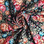 Цветочная нимфа 1831-18, 89x89, павлопосадский платок шерстяной с оверлоком, фото 4