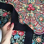 Цветочная нимфа 1831-18, 89x89, павлопосадский платок шерстяной с оверлоком, фото 5