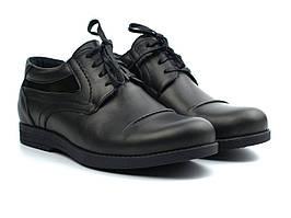 Полуботинки мужские кожаные демисезонные черные Rosso Avangard Winterprince Z